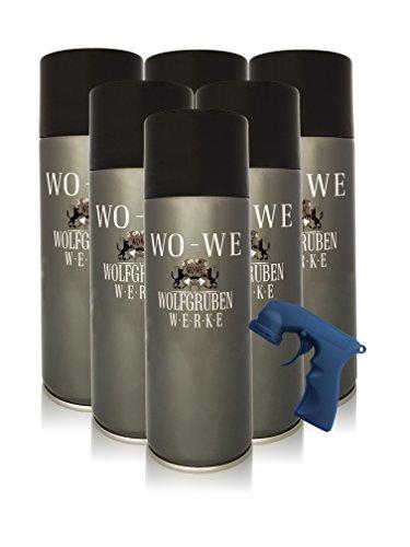 Wowe Reifenschaum Reifenschaumreiniger mit Spraydosengriff Gummipflege 6x400ml | Reifenpflegemittel Tire Cleaner Reifenspray für Reifenglanz | Reifen Reinigung, Pflege, Schutz