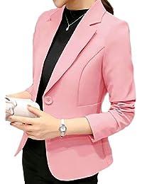 Betrothales Mujer Blazer Americana Otoño Oeste Solapa Formal Botonadura  Abrigos Negocios Prendas Exteriores Manga Larga Bolsillos 38722bb60e6e