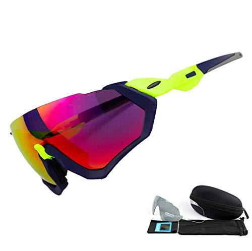 DOLOVE Motorradbrille Retro Sonnenbrille Schutzbrille Blau Grün