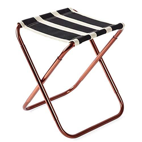 SZP Tabouret de Pliage en Plein air, Chaise de pêche Portable, Chaise d'art, Charge-roulement 100kg, sûr et Stable, approprié pour la Sortie de Camping Maison de Voyage,Black
