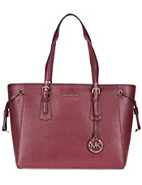 14c9cb311384 MICHAEL MICHAEL KORS Voyager Medium Leather Tote Oxblood