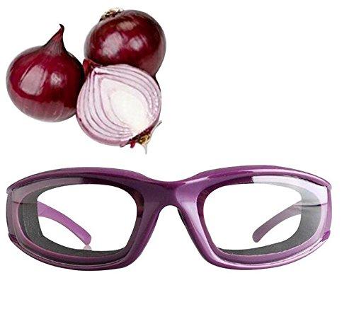 HaoYiShang Brille zum Zwiebelschneiden, robust, leicht, für Zuhause und Küche, Zwiebelschneiden ohne Tränen, Lila
