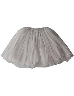Yiiquan Falda Tutu con Capas de Danza Ballet Fiesta Boda Cumpleaños para Niña Princesa Cintura Elástica