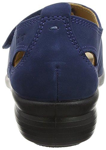 Hotter Damen Florence Offene Sandalen mit Keilabsatz blau (marineblau)