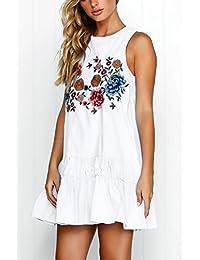 e381b73708eb Amazon.it  Damigella Vestiti - Bianco   Gonne   Donna  Abbigliamento