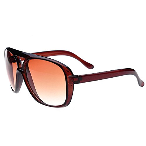 Z-P Unisex Fashion New Style Hot Sell Wayfarer Double Beam Toad Big Frame Sunglasses UV400 (Super Jet Sci)