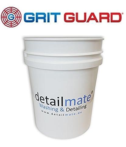 Seau Grit Guard à laver 5Gal (env. 20L) Blanc, Détail Mate Grit Guard Wash Compartiment 5Gallon White amplifie, extra Épaisseur Paroi, convient également pour couvercle Gamma Seal Lid (art. numéro 20010101)