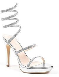 Ideal Shoes , Sandali donna, giallo (giallo), 38