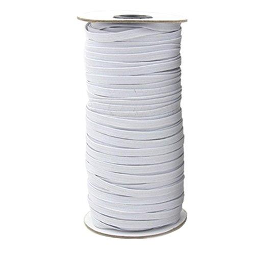 ultnice Kordelzug Stretch-Wandhalter mit elastischem Band band weiß für Kleidung 10M x 6mm (weiß)