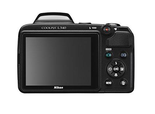 Nikon-Coolpix-L340-Fotocamera-Digitale-Compatta-20-Megapixel-Zoom-28X-LCD-3-HD-Nero-Nital-Card-4-Anni-di-Garanzia