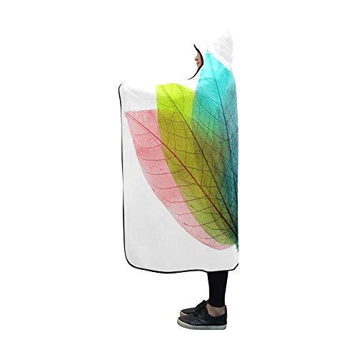 JOCHUAN Mit Kapuze Deckenfarbe lässt abstrakte Form auf weißer Decke 60x50 Zoll Comfotable mit Kapuze Wurf-Verpackung