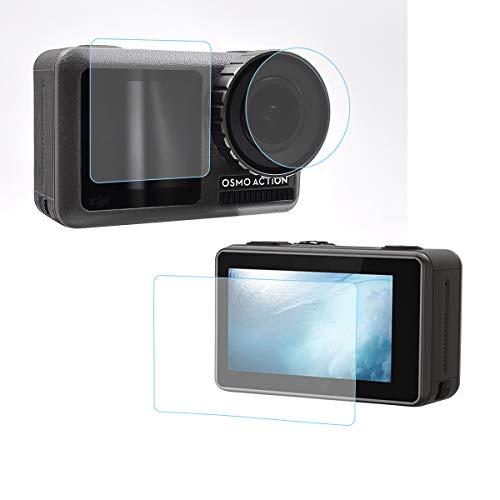 STARTRC 9H Pellicola Protettiva Vetro TemperatoCopertura Completa Pellicola Protettiva Fotocamera Protezione Vetro Temperato per DJI OSMO Action