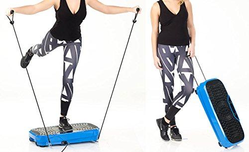 newgen medicals Fitnessplatte: Breite Vibrationsplatte, 300 Watt, 20 Frequenzen, Fernbedienung, Timer (Vibrationsplatte Fitness)