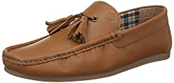 Carlton London Mens Kalle Tan Leather Loafers and Mocassins - 8 UK (CLM-1168)