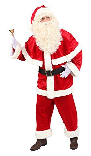 Weihnachtsmann Kostüm Luxus Anzug Weihnachtskostüm XL (56/58) Nikolauskostüm Nikolaus Outfit Santa Claus Herren Weihnachtsmannkostüm Weihnachten Verkleidung Weihnachtsmannmantel