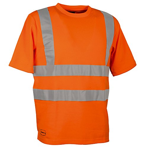 Cofra Warnschutz T-Shirt Alert V118-1 Arbeitsshirt, S, in Signalfarbe orange, 40-00V11801-S (Abs-t-shirt)