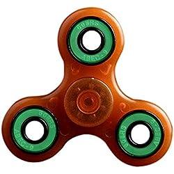 Luomike-Fidget Spinner, Hand Spinner Fidget Juguete Anti Ansiedad para Niños y Jóvenes Adultos Juguete Educación Juguetes de Aprendizaje (naranja)
