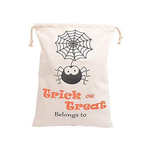 (LEEQ Wiederverwendbare Baumwoll-Tuch Musselin Gift Candy Favor Bag Schmuck für Weihnachten, Halloween, 36,1 x 43,9 cm #3)