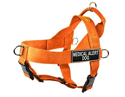 Dean & Tyler DT Hundegeschirr, ohne Ziehen, mit Aufnähern Medical Alert Dog, X-Large, Orange (Medical Dog Harness Alert)