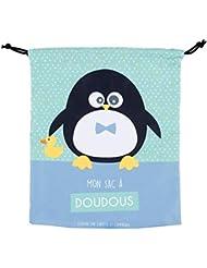 Sac à Doudou ZEN Pingouin garçon - Derrière la porte