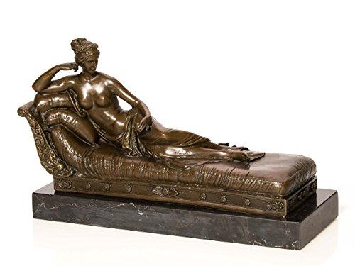 Statuetta bronzo venere inspirata a canova figura in bronzo donna erotica