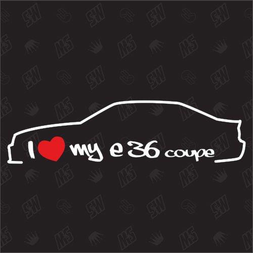Preisvergleich Produktbild I love my BMW E36 Coupe - Sticker Bj. 90-00