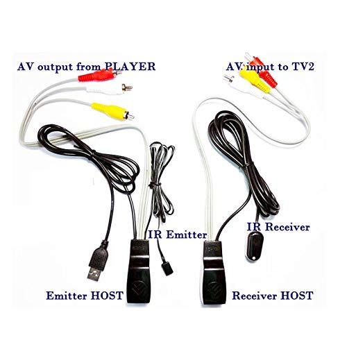 HaverCo AV-Video-Audio-Extender über CAT5e / 6-Ethernetkabel mit Infrarot-Repeater und USB-Stromversorgung - Über Cat5e-extender