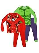Set da 2 pigiami della Marvel per bambini. Due PJs lunghi caratterizzati da Iron Man e Hulk. I pantaloni hanno una cinta elasticizzata e dei polsini per un maggiore comfort. Offrono una comoda vestibilità aderente che il tuo piccolo eroe ador...