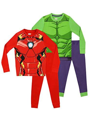 Marvel Jungen Avengers Schlafanzug 2 Packung Slim Fit Mehrfarbig 116