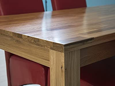Charter Solid Oak Dining Table - Butchers Block Table Top Design - High Quality Oak