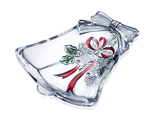 Celebrations by Mikasa Holiday Bells Candy Dish mit Kristallglocke, 17 cm Holiday Candy Dish
