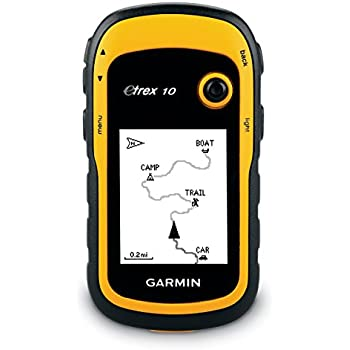 """Garmin eTrex 10 GPS Handgerät - 2,2"""" Touchdisplay, Batterielaufzeit bis 25 Std., großer interner Speicher"""