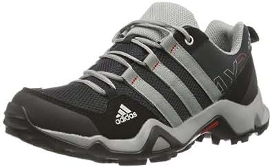 adidas AX 2.0, Unisex-Kinder Trekking- & Wanderhalbschuhe, Schwarz (Black 1/Chalk 2/Light Scarlet), 28 EU