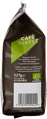 Cafédirect Machu Picchu Organic Fairtrade Ground Arabica Coffee 227g (Pack of 6)