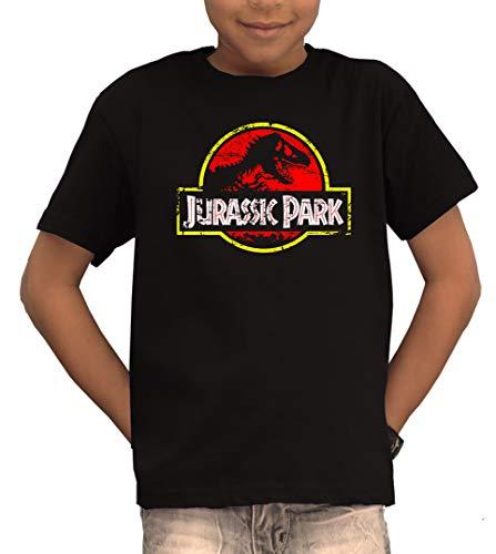 TSP Jurassic Park Distressed Logo T-Shirt Kinder 152/164 Schwarz (Junge Aus Jurassic Park)