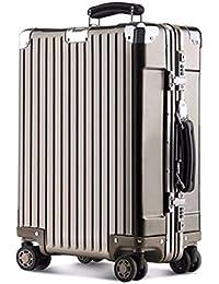 Desgaste Resistente Aluminio-Aleación De Magnesio Trolley Caso Viaje Maleta Contraseña Caja De Embarque De