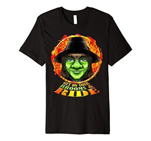 Funny Halloween Hexe TShirt–Get auf Ihrem Besen & Ride–HA