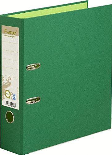 Exacompta-53983E-Classeur--Levier-en-Carte-Recycle-Forever-2-Anneaux-Format-A4-Dos-de-80-mm-Vert-FoncVert-Clair