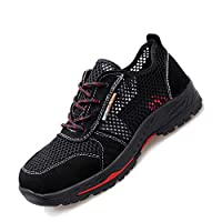 Pleasantly cool Men's And Women's Shoes, Anti-smashing Shoes, Safety Work Shoes, Steel Toes, Kevlar Midsole, Protective Shoes, Breathable Comfortable (Color : Black, Size : 37-EU)