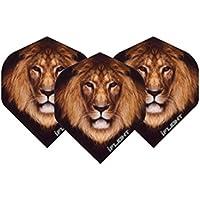 Lion Extra Thick para Dardos–4Sets Pro (Pack de 12Plumas insgesamtl) & Card Puntuación)