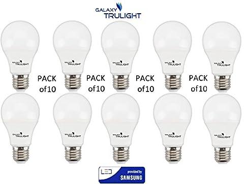 Pack de 10 - 9W Ampoule LED (60W équivalent) -