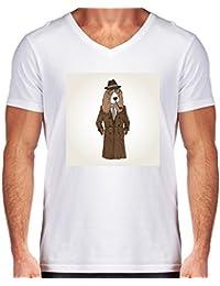 Camiseta V Cuello para Hombre - Snoop Dog by Olga Angelloz Design