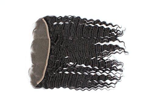 sexyqueenhair Profondeur brésilien bouclés Fermeture frontal 4 * * * * * * * * 13 décolorés Remy de cheveux humains Fermeture 30,5 cm