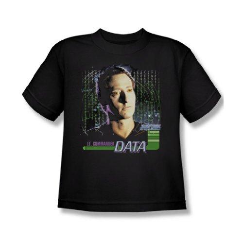 Star Trek - St: Next Gen / Data Jugend T-Shirt in schwarz Black