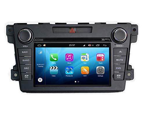 Roverone Quod Core Android System 7 Zoll Doppel DIN Autoradio GPS für Mazda CX7 CX-7 CX 7 2007-2012 mit Navigation Radio Stereo DVD Bluetooth SD USB Spiegel Link Touch Bildschirm Cx Gps-systeme