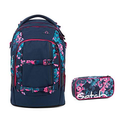 Satch Pack Awesome Blossom Schulrucksack Set 2tlg.
