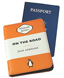 On the Road Orange Penguin Passport Case