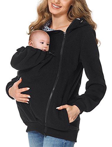 Bellivalini Veste de maternité avec Capuche - BLV50-116 (Noir, L)