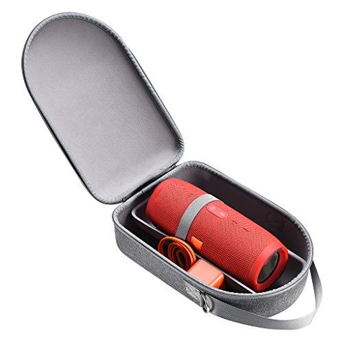 Hart Tasche Case für JBL-Charge 3/4 Pulse3/4 Bluetooth Lautsprecher, BJJH Wasserdicht Hülle passt für Lautsprecher and Zubehör (mit Schultergurt) (Garu)