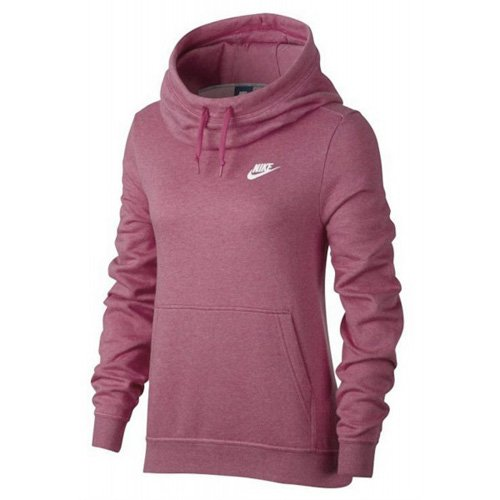 Nike 853928-694 Sweat à Capuche Femme, Chiné/Rose élémentaire, FR (Taille Fabricant : XS)